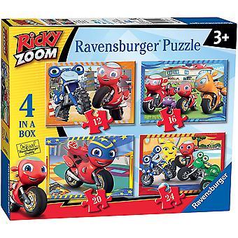 Ravensburger Ricky Zoom - 4 in Doos (12, 16, 20, 24 stuks) Legpuzzels