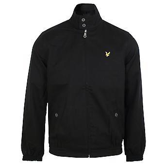 Lyle & scott men's jet black harrington jacket