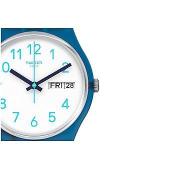 Swatch Gn728 gestreifte Wellen blau Silikon uhr