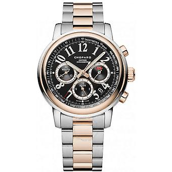 Chopard Mille Miglia Chronograph Black Dial 18 Carat Rose Gold Automatic Men's Watch 158511-6002