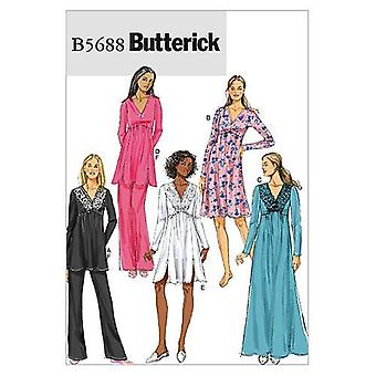 Butterick Syning Mønstre 5688 Misser Top Kjole Bukser Størrelse L-XXL