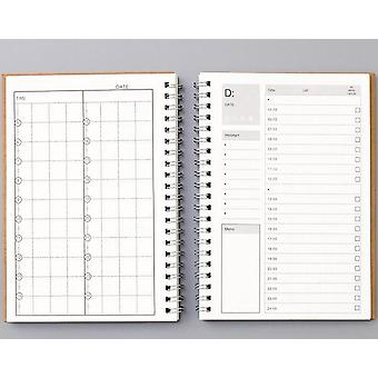 Carnets Agendas Planner Diary, Weekly Spiral Organizer A5 Note Books