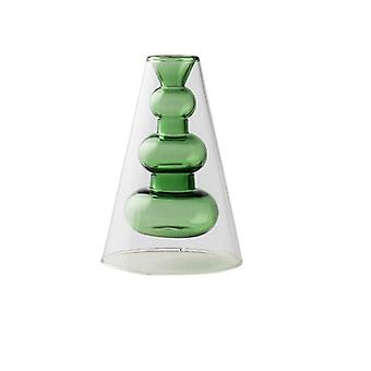 Nordic design creative double stained glass decor vases