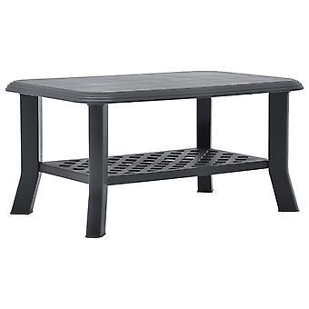 vidaXL طاولة القهوة Anthracite 90 × 60 × 46 سم البلاستيك