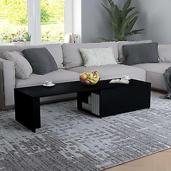 vidaXL table basse noir 150 x 50 x 35 cm panneau de particules