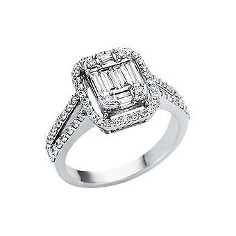 לונה יצירה Promessa טבעת אשליה 1U132W853-1 - רוחב טבעת: 53