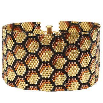 Peyote Bracelet - Honeycomb - Exclusive Beadaholique Jewelry Kit