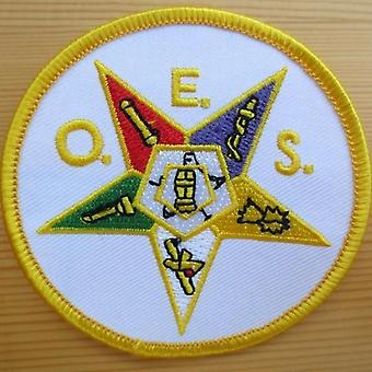 Order of eastern star masonic embroidery patch