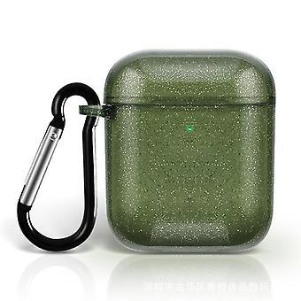 Étui de protection pour airpodes 1 2 3 paillettes pro transparent violet vert