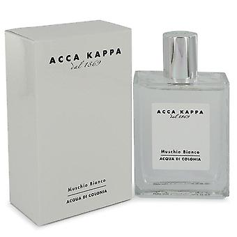 Muschio bianco (almizcle blanco/musgo) eau de cologne spray (unisex) by acca kappa 542440 100 ml
