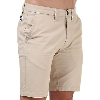 Men's Weekend Offender Dillenger Cotton Twill Chino Shorts in Cream