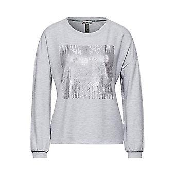 Street One 315833 T-Shirt, Sky Grey Melange, 44 Woman