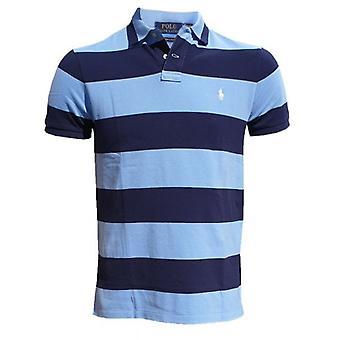 Ralph Lauren Polo Shirt Streep Blauw