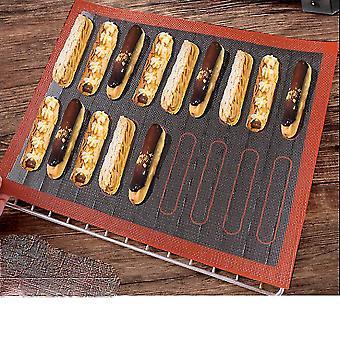 58x38cm Lightning Puff Baking Mat Silicone Fiverglass Baking Pastry Tool Hollow Mesh Baking Pan