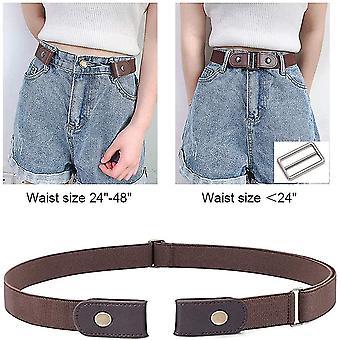 Buckle-free Belt Invisible Elastic Waist Belts Adjustable Stretch Belt For Jean Pants(Brown)