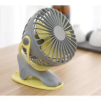 360 Degree All Round Rotating Air Fan Rechargeable Mini Fan 4 Speed USB Charging Desktop Clip Fan