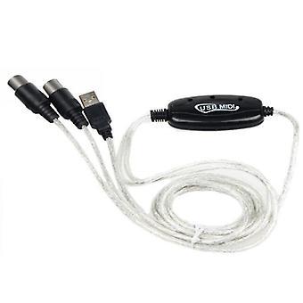 1.8m MIDI na USB Převodník kabel pro hudební klávesnici Elektronické varhany