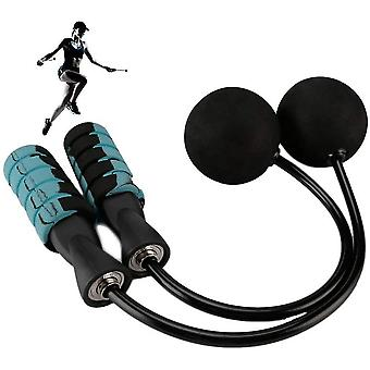 Jump Rope Ropeless Skipping With Ball Bearings For Weight Loss Exercise(Blue)