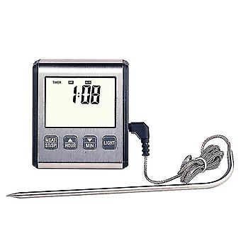 Instant Read Thermometer With Long Probe, Lcd Screen 0℃~300℃ Digital Bbq Grill Monitor Best For