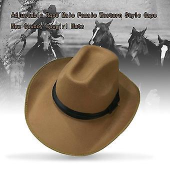 Corde réglable Mâle Femelle Western Style Caps New Cowboy Cowgirl Chapeaux