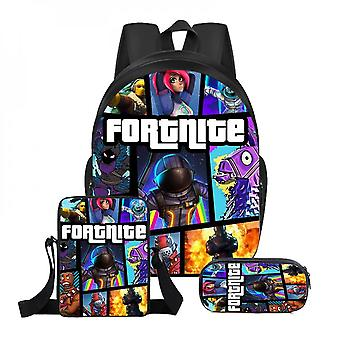 Fortnite Plecak Lunch Bag Papeteria Bagthree-piece Student Gift