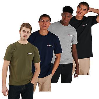 Berghaus Mens 2021 Ekologisk Bomull Klassisk Logo Crew Neck Short Sleeve T-Shirt