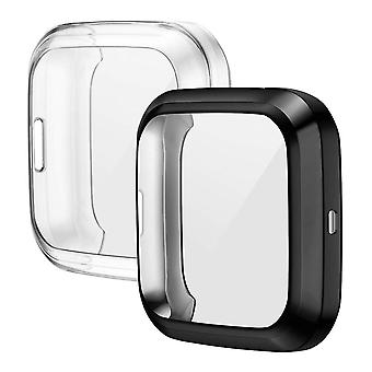 2-piece Case Compatible With Fitbit Versa 2 Protective Cover, Flexible