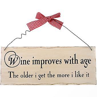 Noget anderledes vin forbedrer med alderen hængende tegn