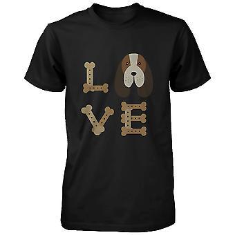Basset Hound, RAKAS Miesten t-paita söpö paita koiran omistaja pentu painettu paita