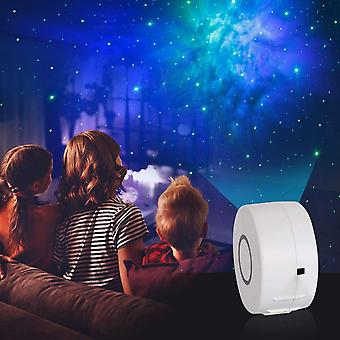 Smart Home Remote Control Led Rotating Starry Sky Projection Night Light (white)
