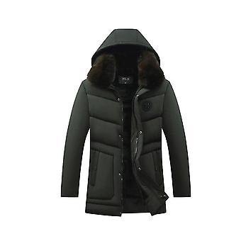 Men's Winter Jacket With Big Fur Collar Hooded