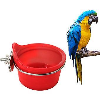 Multifunction Parrot Feeder - Bird Feeder - Bird Feeder - Bird Cage Decoration Accessories - Red