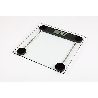 Kabalo 180kg moderne glazen huishoudelijke personenweegschaal - Premier elektronische digitale persoonlijke schaal met groot LCD-scherm