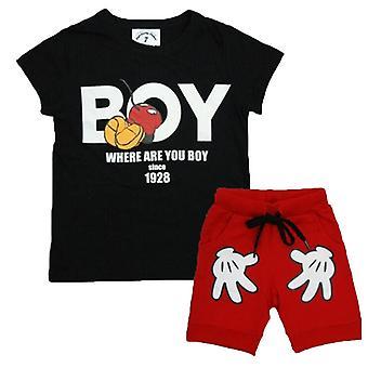 ילדים בנים קצר שרוול חולצת טריקו מכנסיים קצרים להגדיר קיץ מזדמנים תלבושת בגדים