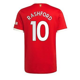 Мужская Футбольная Майка Новый сезон Мнчестер 2021-2022 Юнайтед #10 Рэшфорд Футбол Джерси Спортивные футболки Размер S-xxl