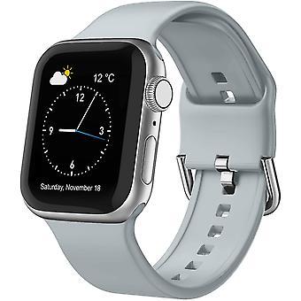 Bracelet de remplacement en silicone Sport avec fermoir classique pour Iwatch Series Se