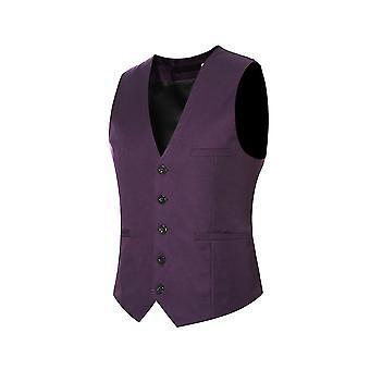 Sipin Pánské V-neck Oblek Vest Cotton Slim Four Seasons Vest