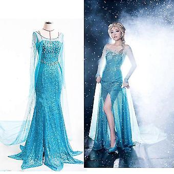 Cos Halloween Zahraničný obchod Mrazené šaty pre dospelých Princezná Elsa Stage Svadobné šaty