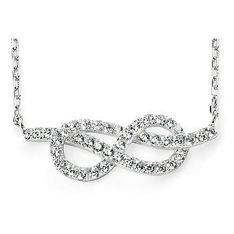 925 silver Infinity zirkonium halsband