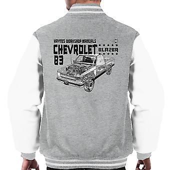 Haynes Owners Workshop Manual Chevrolet Blazer 83 Black Men's Varsity Jacket