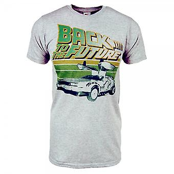 Back to the Future Mens Retro Back To The Future T Shirt Grey