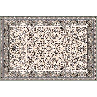 Nain 1236-679 Light beige ground with green border Rectangle Rugs Traditional Rugs