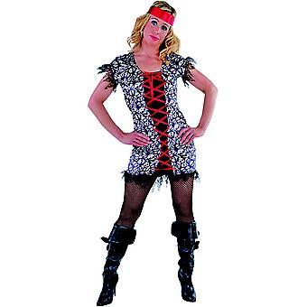 Vrouwen kostuums vrouwen piraat Lady zwart of roze