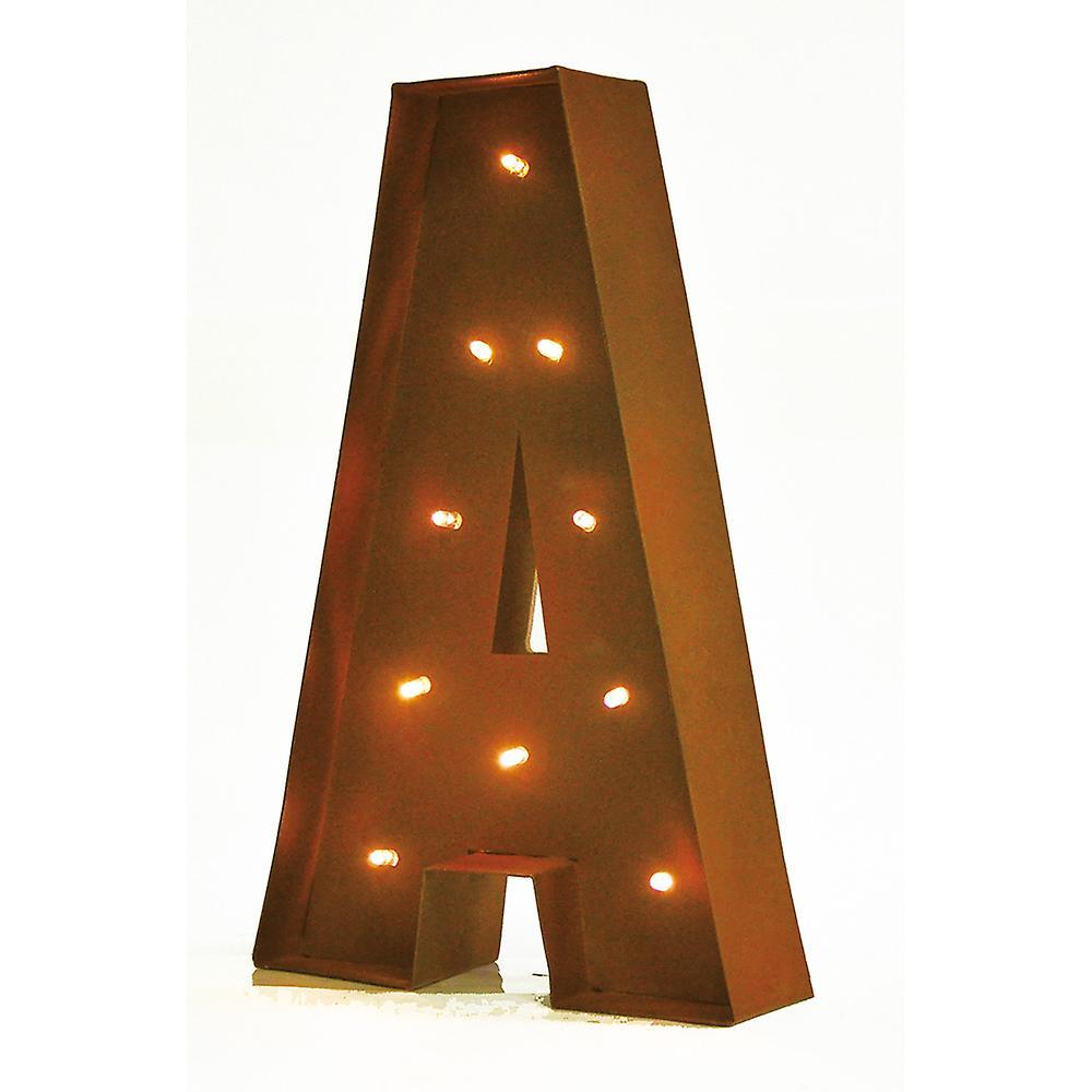 Opprinnelig Glød BokstaverFruugo 11 Rustikk Dekorativ Vintage Lampe 2WEHD9I OR-32
