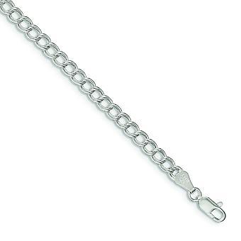 925 Sterling Silber solid poliert Hummer Kralle Verschluss Doppel Link Charm Armband Hummer Kralle Schmuck Geschenke für Frauen
