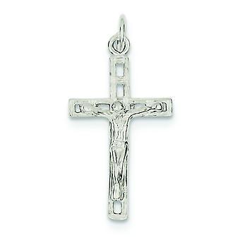 925 sterling sølv solid poleret gnistre-cut korsfæste vedhæng-1,4 gram