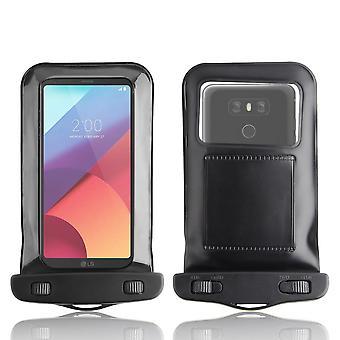 InventCase vedenpitävä Dustproof laukku Case Suojakotelo LG G6 2017 - musta