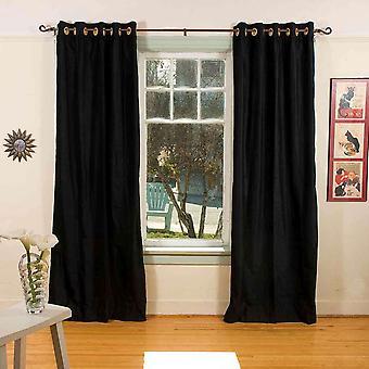 Noir bague / œillet haut rideau de velours / Drape / panneau - pièce