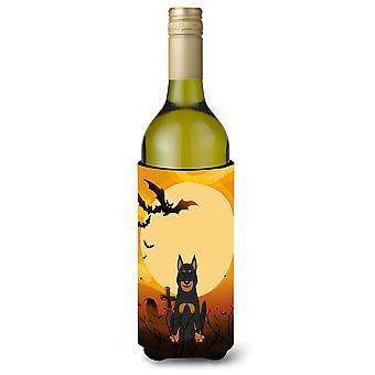 Halloween Beauce Shepherd Dog Wine Bottle Beverge Insulator Hugger