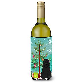 Merry Christmas Tree Bouvier des Flandres Wine Bottle Beverge Insulator Hugger